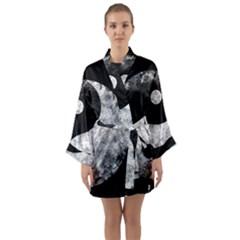 Grunge Yin Yang Long Sleeve Kimono Robe