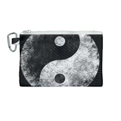 Grunge Yin Yang Canvas Cosmetic Bag (medium)