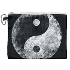 Grunge Yin Yang Canvas Cosmetic Bag (xxl)
