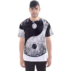 Grunge Yin Yang Men s Sports Mesh Tee