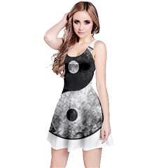 Grunge Yin Yang Reversible Sleeveless Dress