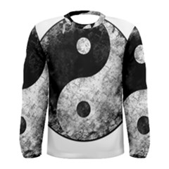 Grunge Yin Yang Men s Long Sleeve Tee