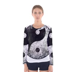 Grunge Yin Yang Women s Long Sleeve Tee