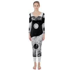 Grunge Yin Yang Long Sleeve Catsuit