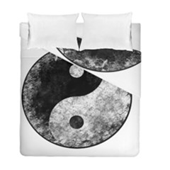 Grunge Yin Yang Duvet Cover Double Side (full/ Double Size)