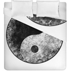Grunge Yin Yang Duvet Cover Double Side (king Size)