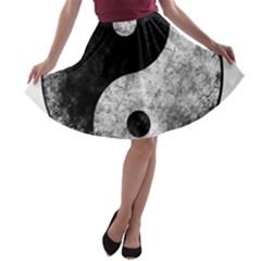Grunge Yin Yang A Line Skater Skirt