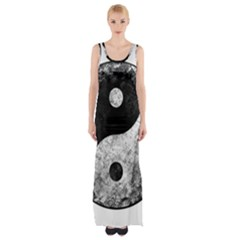 Grunge Yin Yang Maxi Thigh Split Dress