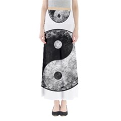 Grunge Yin Yang Full Length Maxi Skirt