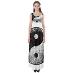 Grunge Yin Yang Empire Waist Maxi Dress