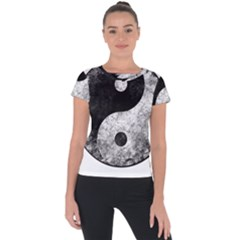 Grunge Yin Yang Short Sleeve Sports Top