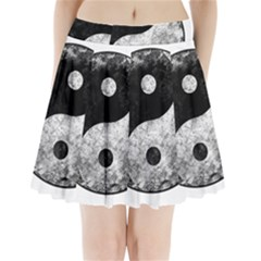 Grunge Yin Yang Pleated Mini Skirt