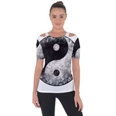Grunge Yin Yang Short Sleeve Top