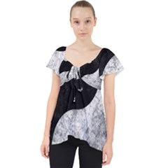 Grunge Yin Yang Lace Front Dolly Top
