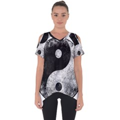 Grunge Yin Yang Cut Out Side Drop Tee