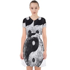 Grunge Yin Yang Adorable In Chiffon Dress
