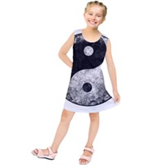 Grunge Yin Yang Kids  Tunic Dress