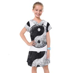Grunge Yin Yang Kids  Drop Waist Dress