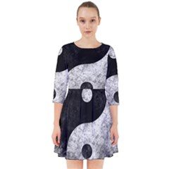 Grunge Yin Yang Smock Dress