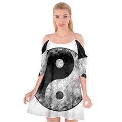 Grunge Yin Yang Cutout Spaghetti Strap Chiffon Dress