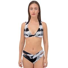 Grunge Yin Yang Double Strap Halter Bikini Set