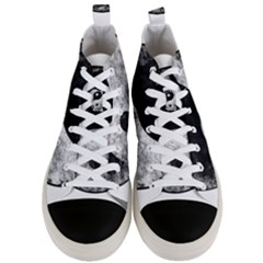 Grunge Yin Yang Men s Mid Top Canvas Sneakers