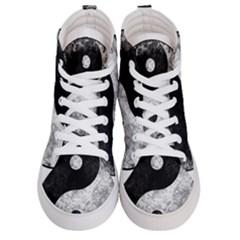 Grunge Yin Yang Men s Hi Top Skate Sneakers