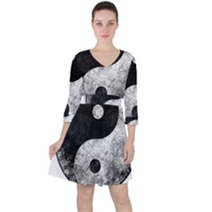 Grunge Yin Yang Ruffle Dress