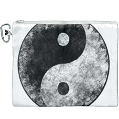 Grunge Yin Yang Canvas Cosmetic Bag (xxxl)