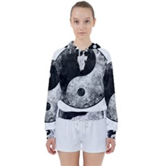 Grunge Yin Yang Women s Tie Up Sweat