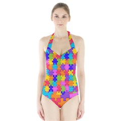 Colorful 10 Halter Swimsuit