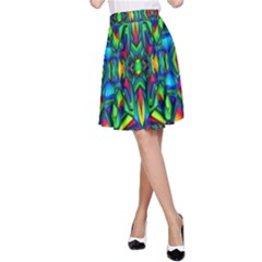 Colorful 13 A Line Skirt