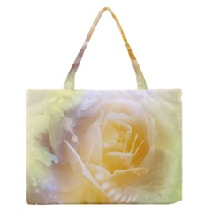 Beautiful Yellow Rose Zipper Medium Tote Bag