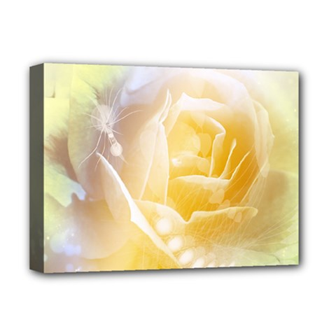 Beautiful Yellow Rose Deluxe Canvas 16  X 12