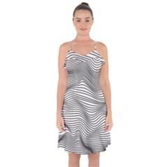 Soundlines Ruffle Detail Chiffon Dress