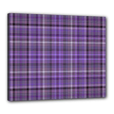 Purple  Plaid Canvas 24  X 20