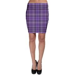Purple  Plaid Bodycon Skirt