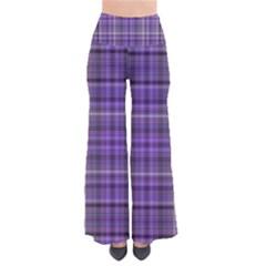 Purple  Plaid Pants