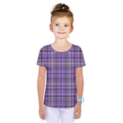 Purple  Plaid Kids  One Piece Tee