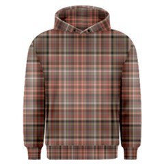 Peach  Plaid Men s Overhead Hoodie