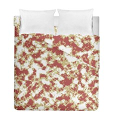 Abstract Textured Grunge Pattern Duvet Cover Double Side (full/ Double Size)