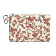 Abstract Textured Grunge Pattern Canvas Cosmetic Bag (large)