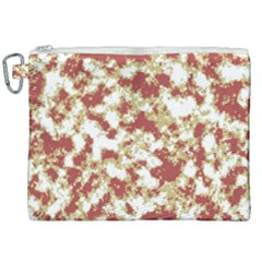 Abstract Textured Grunge Pattern Canvas Cosmetic Bag (xxl)
