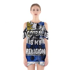 Football Is My Religion Shoulder Cutout One Piece