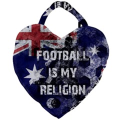 Football Is My Religion Giant Heart Shaped Tote