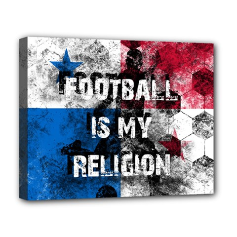 Football Is My Religion Deluxe Canvas 20  X 16
