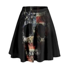 Skull High Waist Skirt