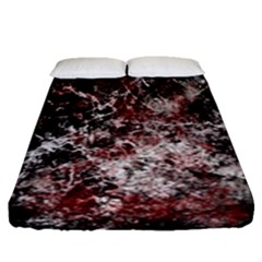 Grunge Pattern Fitted Sheet (queen Size)