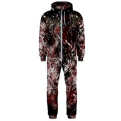 Grunge Pattern Hooded Jumpsuit (men)
