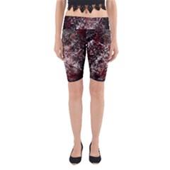 Grunge Pattern Yoga Cropped Leggings